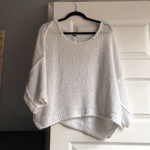 Free People White Sweater Size Small